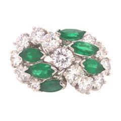 Oscar Heyman Emerald and Diamond Ring in Platinum