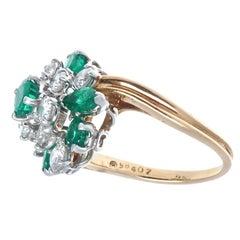 Oscar Heyman Emerald Diamond Ring