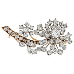 Oscar Heyman Flower Diamond Brooch