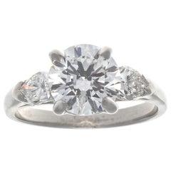 Oscar Heyman GIA 1.27 Carat Triple X Diamond Platinum Engagement Ring