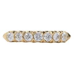Oscar Heyman Gold Diamond Partway Wedding Band Ring