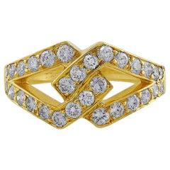 Oscar Heyman Interlocked Diamond Yellow Gold Ring