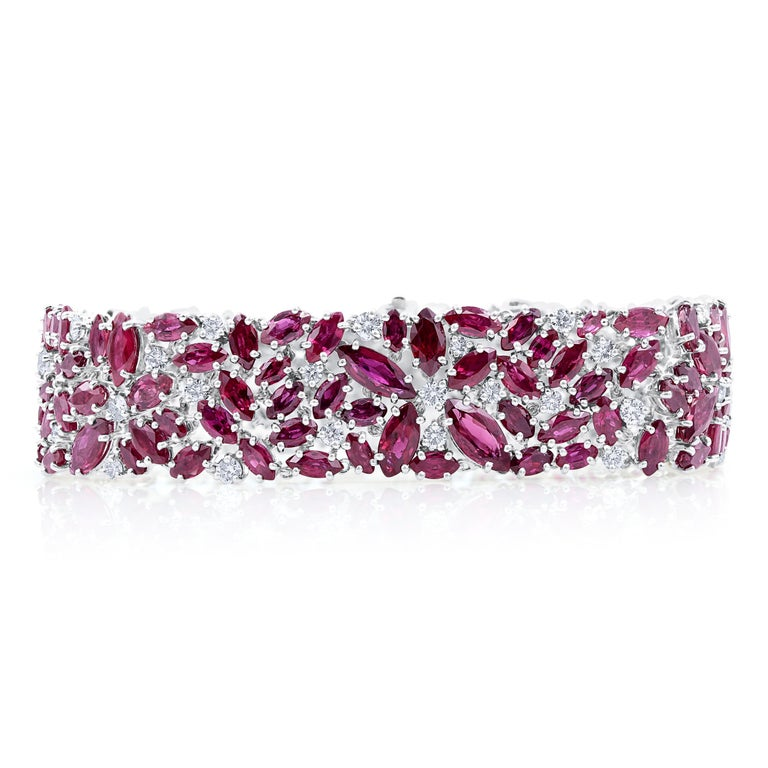 Marquise-ruby scatter bracelet, 2021