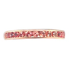 Oscar Heyman Pink Sapphire band in Rose Gold