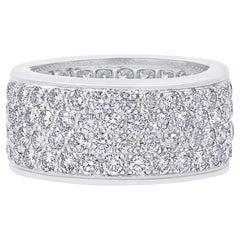 Oscar Heyman Platinum Diamond Cigar Band Ring