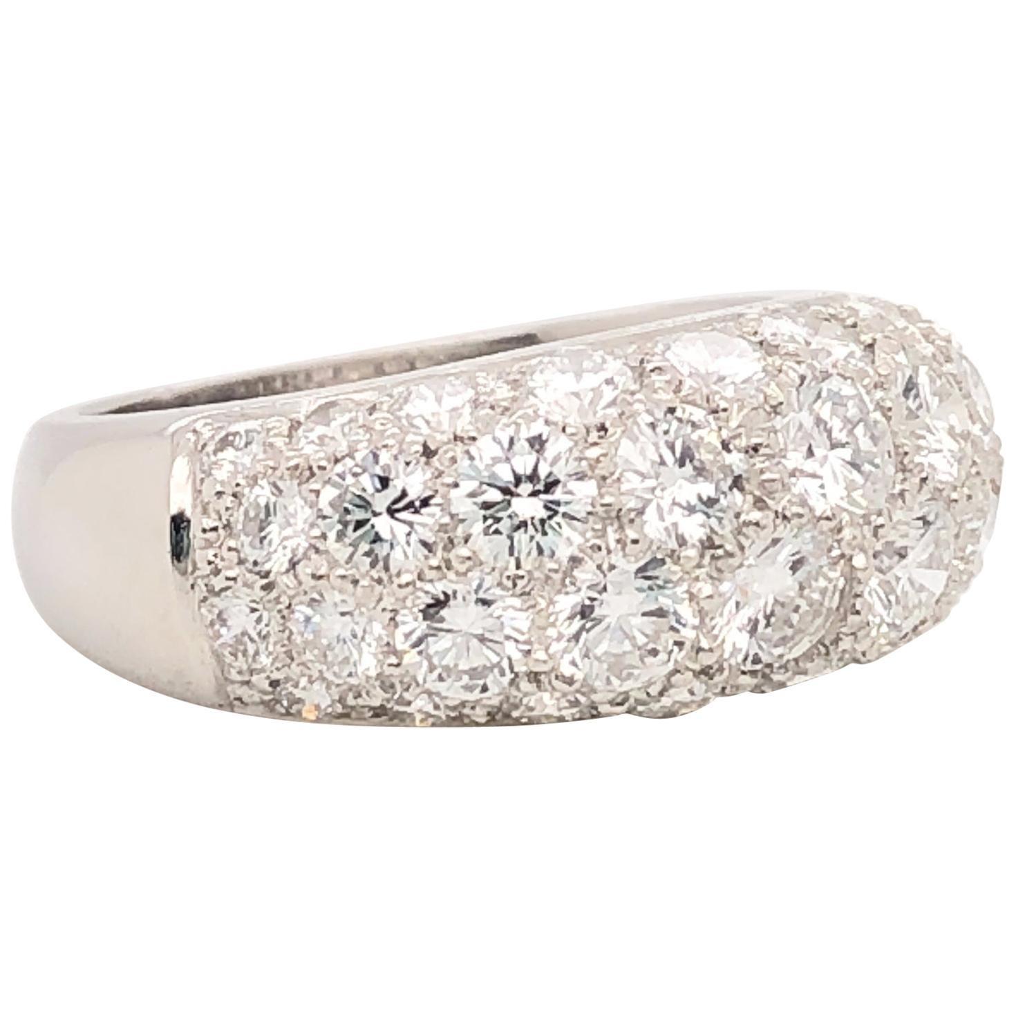 Oscar Heyman Platinum Diamond Dome Ring