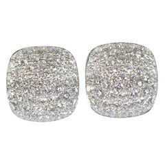 Oscar Heyman Platinum Diamond Square Earrings