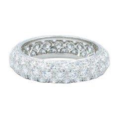 Oscar Heyman Platinum Rounded Diamond Wedding Band Ring 2.41tcw