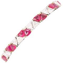 Oscar Heyman Ruby and Diamond Bracelet
