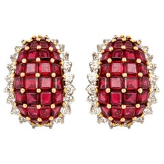 Oscar Heyman Ruby Earrings