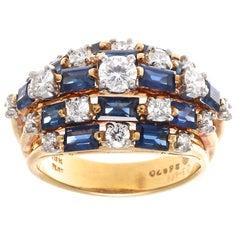 Oscar Heyman Sapphire Diamond Cocktail Ring