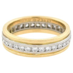 Oscar Heyman Two-Tone 0.30 Carat Diamond Band