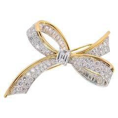 Oscar Heyman Vintage Diamond Bow Brooch