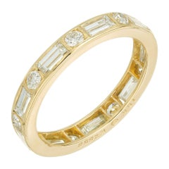 Oscar Hyman Brothers 1.48 Carat Diamond Yellow Gold Eternity Band Ring