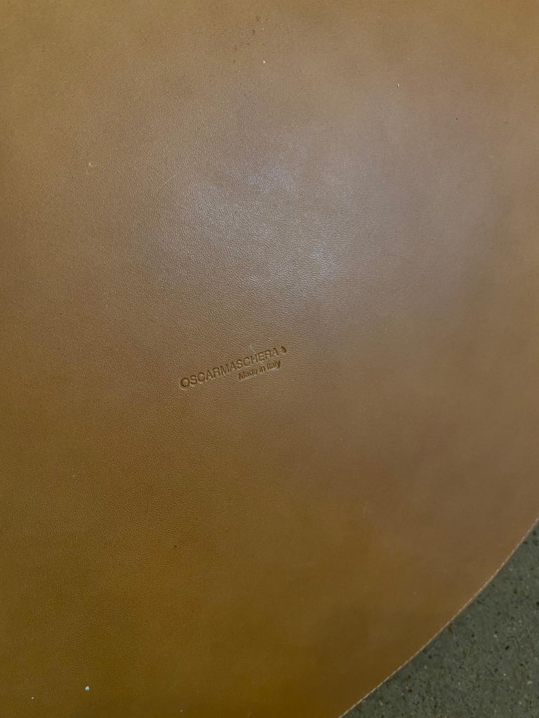 Oscar Maschera Woven Leather Wastebasket In New Condition For Sale In Austin, TX