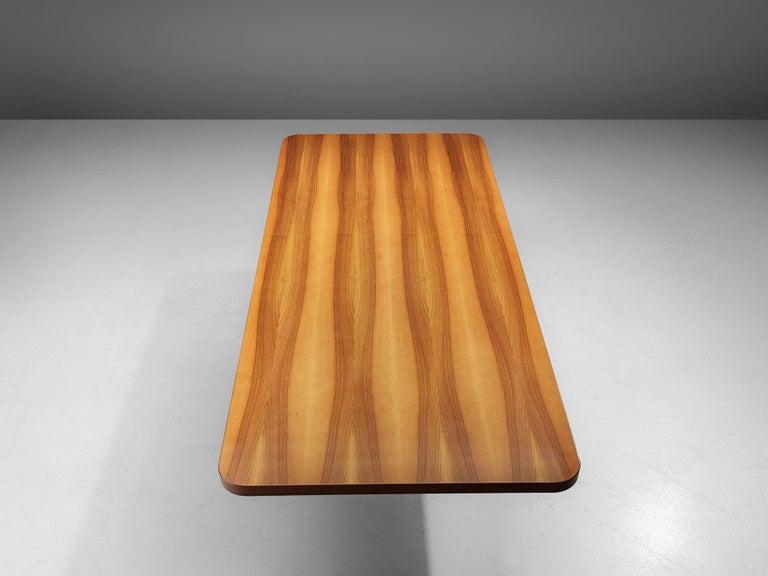 Post-Modern Oscar Niemeyer Table in Walnut For Sale