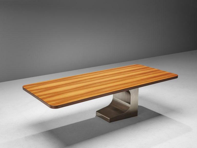 Brazilian Oscar Niemeyer Table in Walnut For Sale
