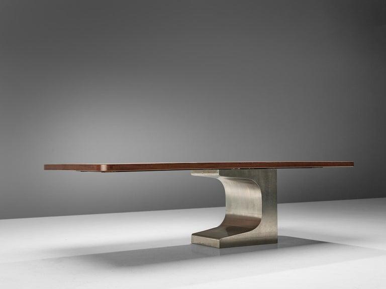 Oscar Niemeyer Table in Walnut For Sale 2