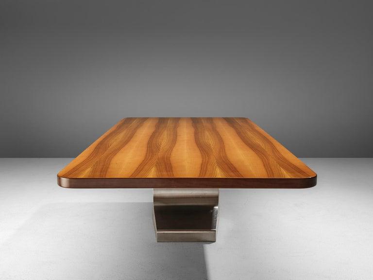 Oscar Niemeyer Table in Walnut For Sale 3