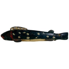 Oscar Peterson Minnow Decoy Repainted by Jess Ramey, circa 1930