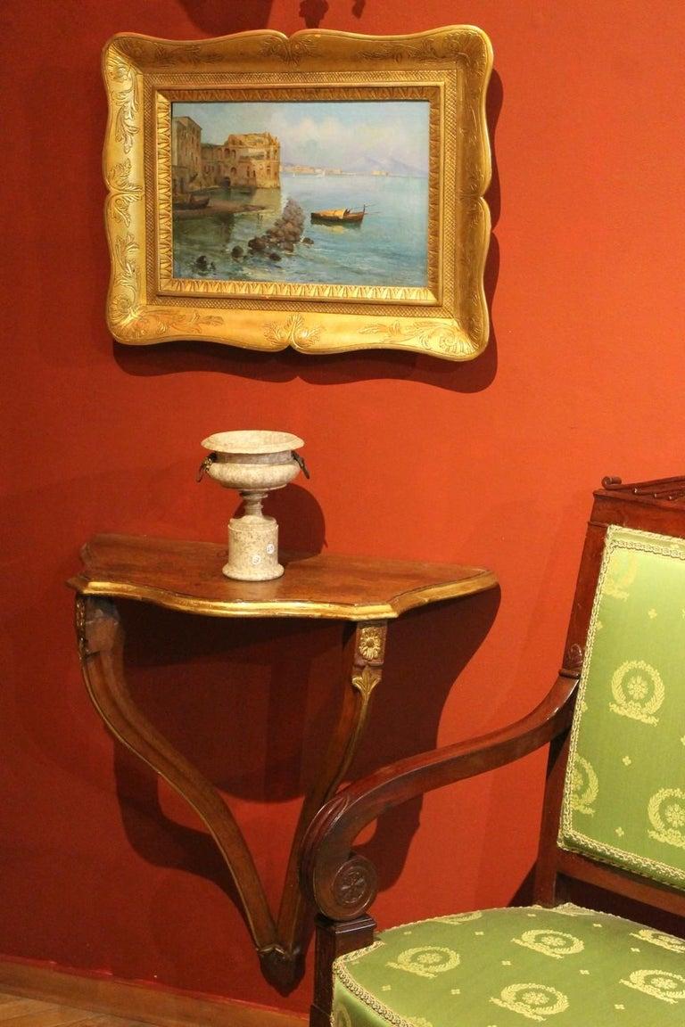 Oscar Ricciardi, Italian 19th Century Oil on Canvas Marine Landscape Painting  For Sale 7