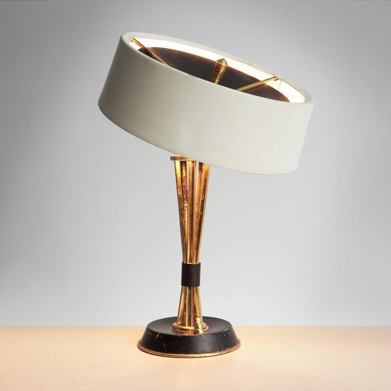 Italian Oscar Torlasco for Lumi Milano Swiveling Table Lamp For Sale