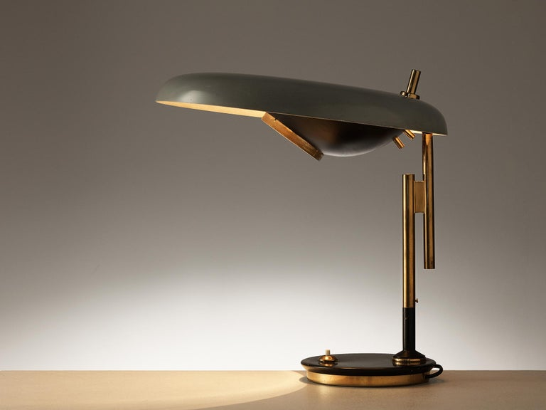 Oscar Torlasco for Lumi Table Lamp Model '555' In Good Condition In Waalwijk, NL