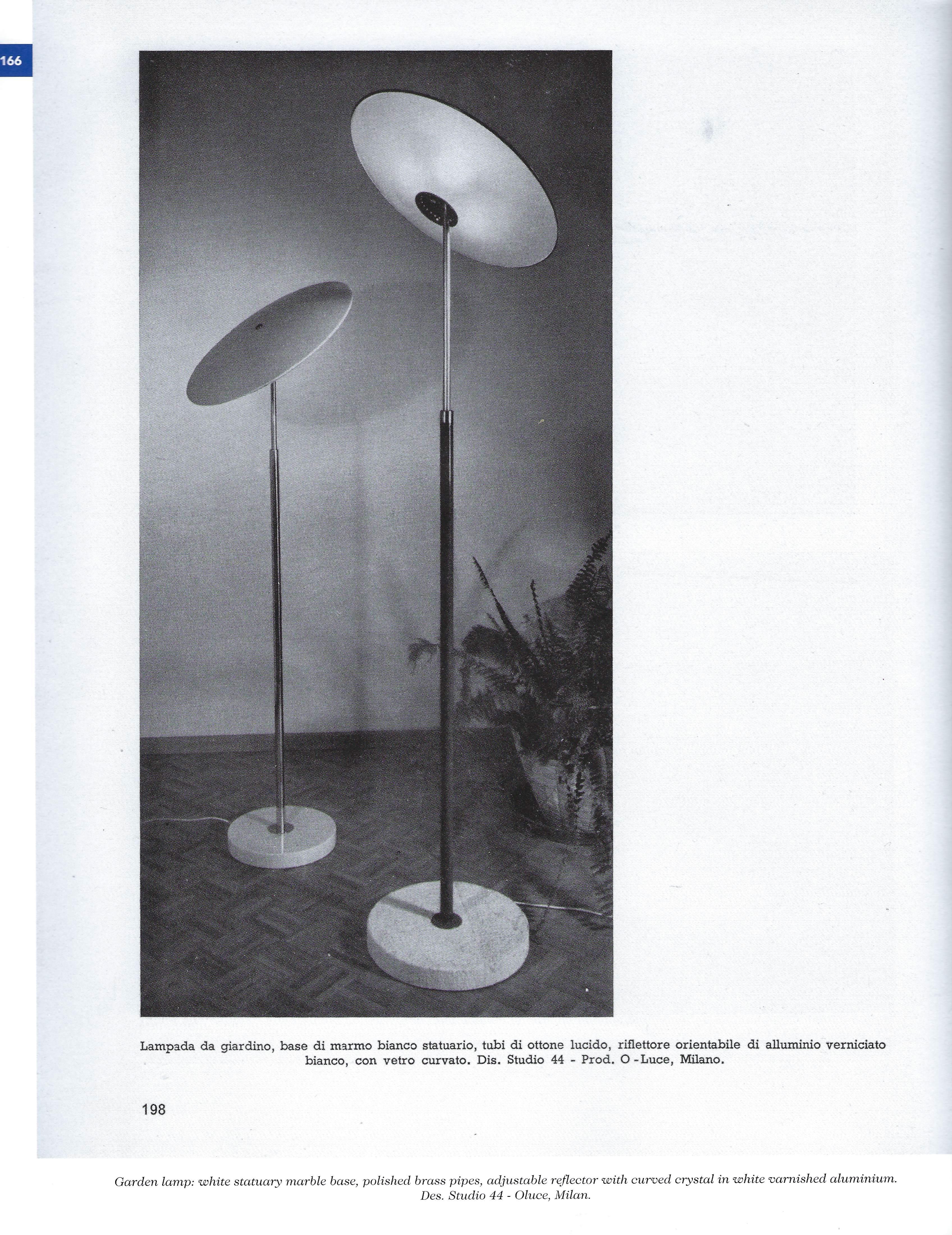 Lampada Da Studio Design oscar torlasco for o-luce rare table lamp for sale at 1stdibs