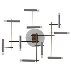 Oscar Torlasco Geometric Ceiling Lamp for Lumi, Italy, 1950s