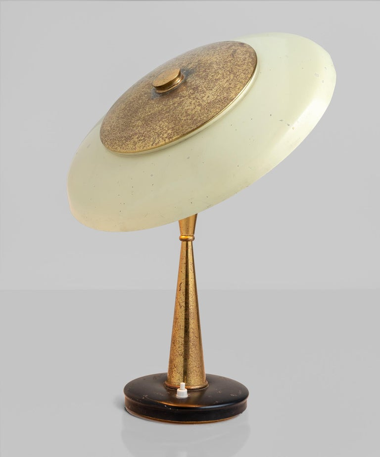 Modern Oscar Torlasco Table Lamp, Italy circa 1950 For Sale