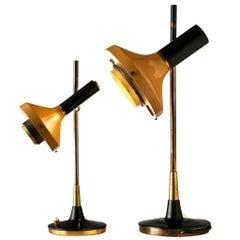 Oscar Torlasco Two 'Lens' Table Lamps