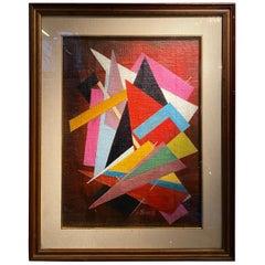 Oscar Troneck Constructivism Oil on Canvas
