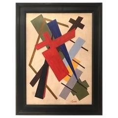 Oscar Troneck Constructivism Painting
