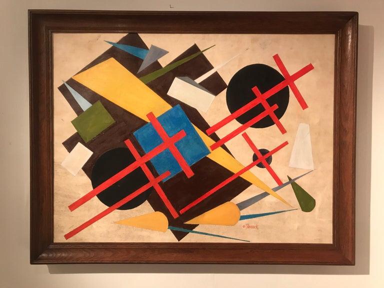 Oscar Troneck oil on canvas  Original frame Good condition.