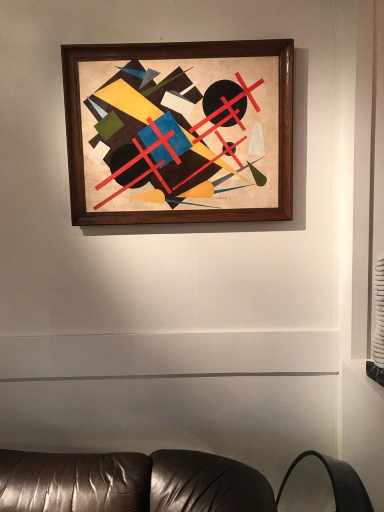 European Oscar Troneck Oil on Canvas For Sale