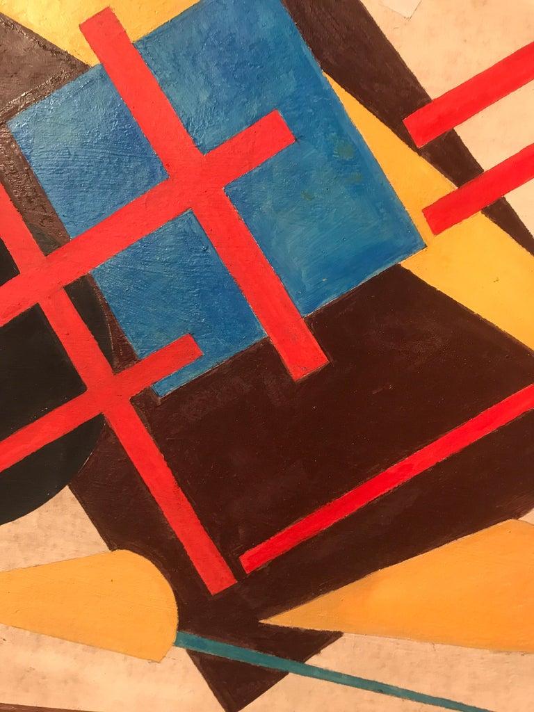 Mid-20th Century Oscar Troneck Oil on Canvas For Sale
