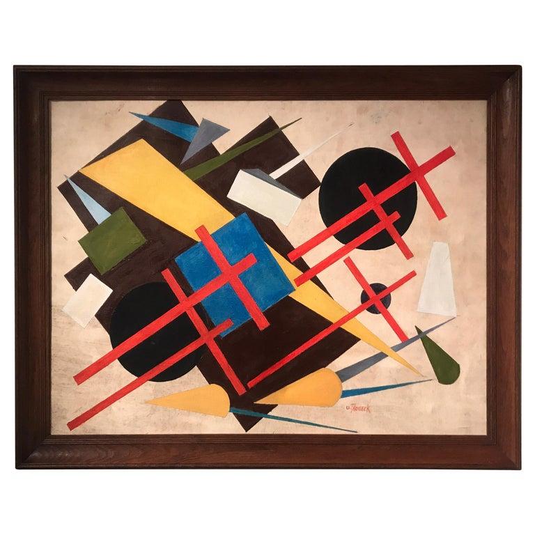 Oscar Troneck Oil on Canvas For Sale
