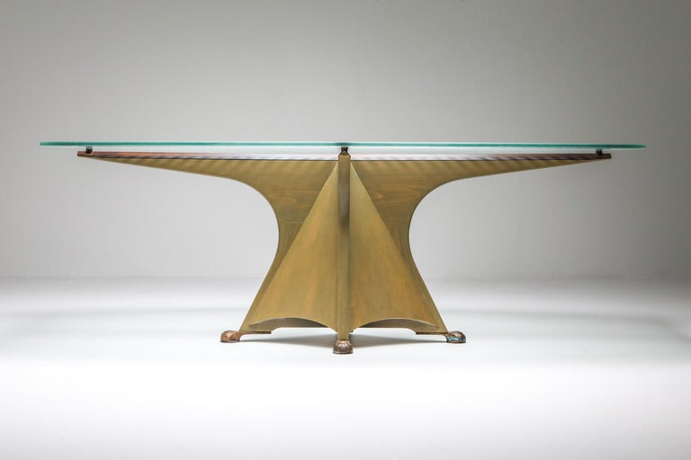 Etched Oscar Tusquets 'Alada' Dining Table For Sale