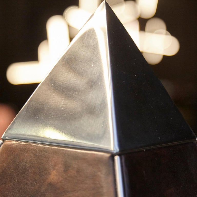 Oscar Tusquets Contemporary Leather Starry Pyramid Limited Edition In Good Condition For Sale In Barcelona, Barcelona