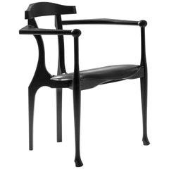 Oscar Tusquets, Mid-Century Modern, Black Ash Gaulino Spanish Easy Chairs