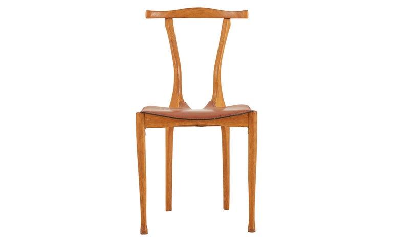 Mid-Century Modern Oscar Tusquets Oak Gaulino Chair For Sale