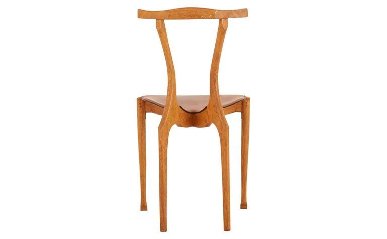 Spanish Oscar Tusquets Oak Gaulino Chair For Sale