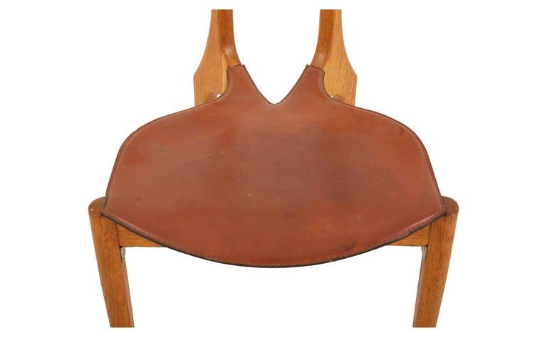 20th Century Oscar Tusquets Oak Gaulino Chair For Sale