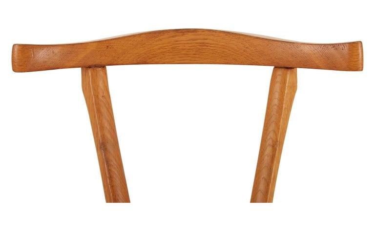 Leather Oscar Tusquets Oak Gaulino Chair For Sale