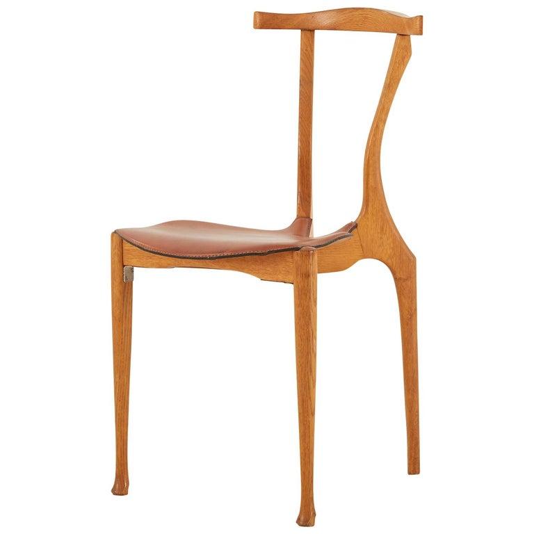 Oscar Tusquets Oak Gaulino Chair For Sale