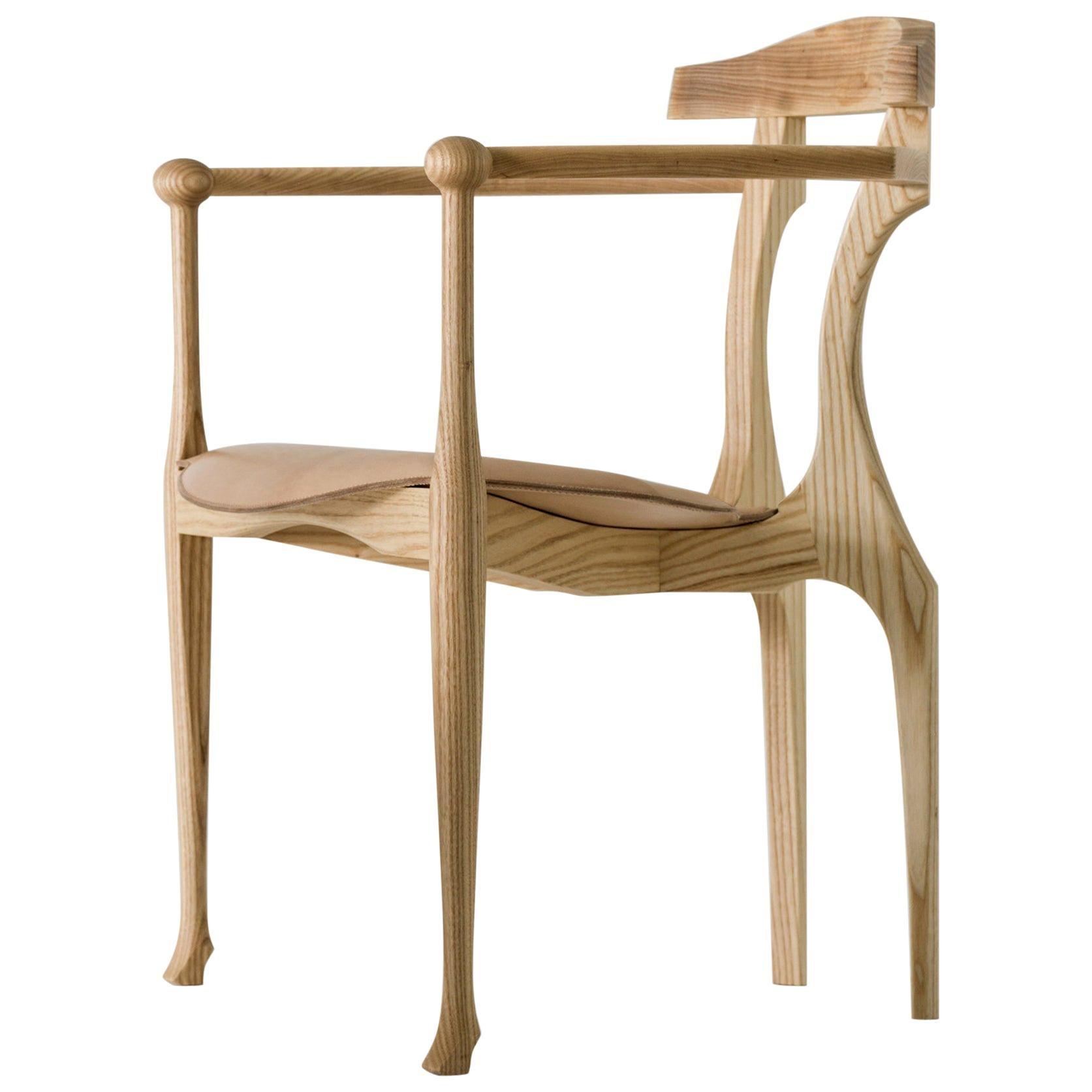 Oscar Tusquets Solid Ashwood Gaulino Easy Chair for BD Barcelona Design