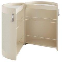 Oscar White Leather Bar Cabinet