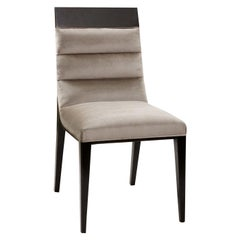 Oscar Wood and Fabric Chair