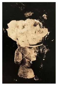 Luxury hat on mannequin, contemporary black and white abstract photo, fashion