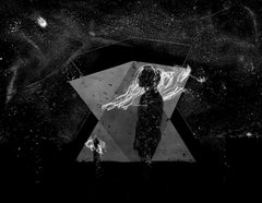 The Explorers, Figurative,abstract,collage,black and white photo, gelatin silver